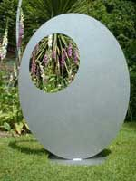 Ovate framing sculpture by Iron Vein designer makers
