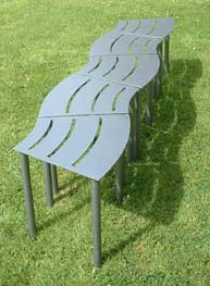 Wave form bench by Iron Vein creative metalwork